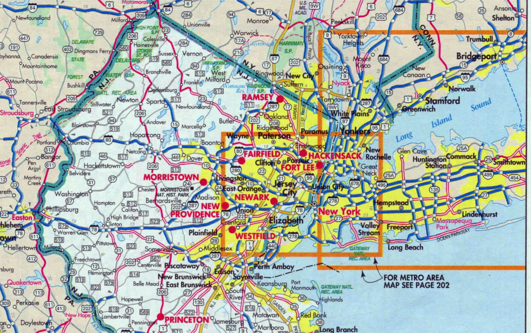 Detail of New Jersey road map | Adoptee Rights Law on
