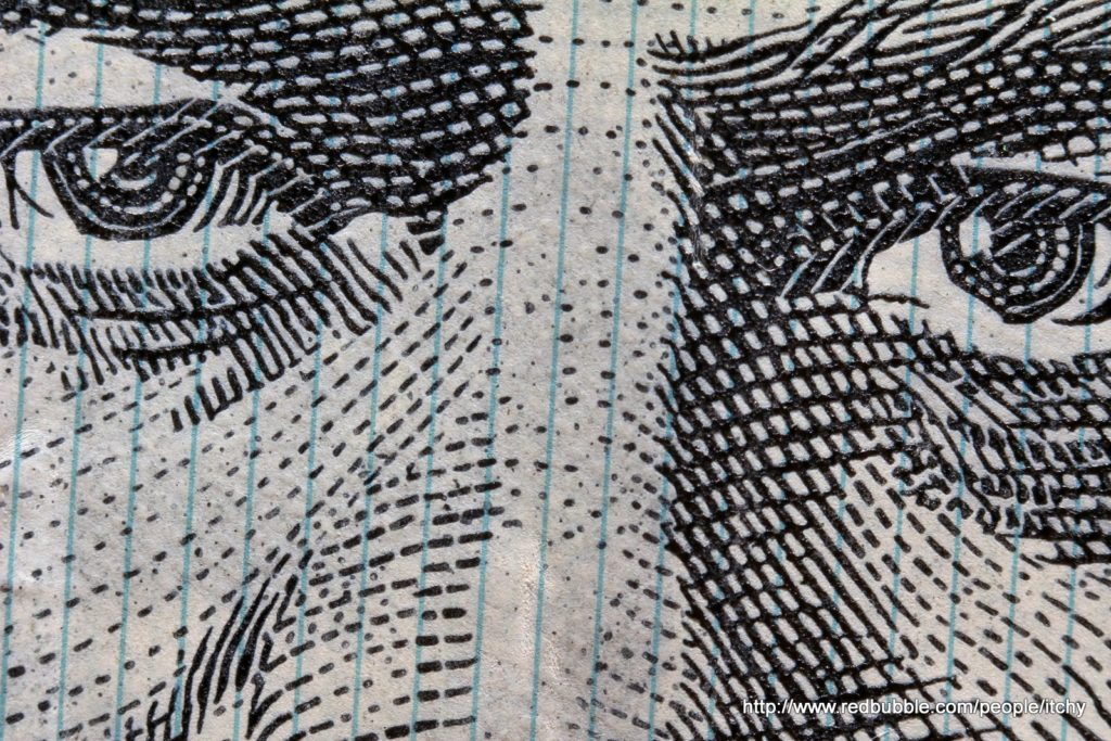 Detail from dollar bill